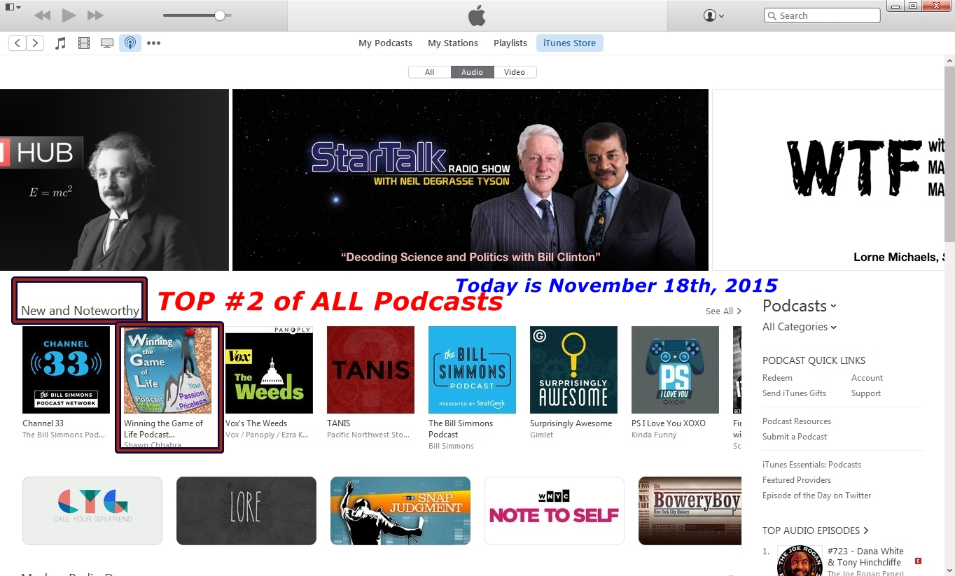 TOP-Number2-of-ALL-Podcasts-11-18-2015